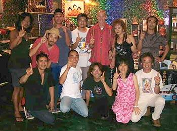 Kampai in Okinawa with Upanishad's 'Champloose' band and friends